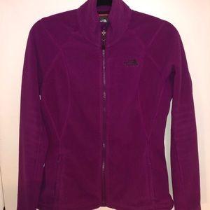 North Face Fleece Full Zip Sweater Purple-size med
